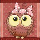 Beautiful Decor Design Collectible Kitchen Fridge Magnet - Cute Little Owl #3