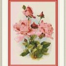 Cross-Stitch Embroidery Color PATTERN DMC thread codes - Pink Victorian Roses