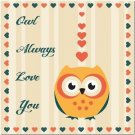 Primitive Country Folk Art Kitchen Refrigerator Magnet - Owl Always Love You