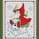 Cross-Stitch Embroidery Color Pattern with DMC thread codes - Christmas Elf #2