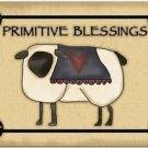 Primitive Country Folk Art Kitchen Refrigerator Magnet - Primitive Blessings