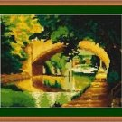 Cross-Stitch Embroidery Color Pattern with DMC thread codes - Canal of Amsterdam