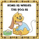 Beautiful Cute Decor Collectible Kitchen Fridge Magnet - Home is Where the Dog