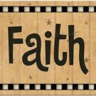 Beautiful Prim Decor Collectible Kitchen Fridge Magnet - Country Sing ~ Faith