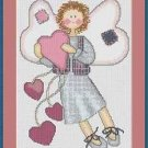 Cross-Stitch Embroidery Color Pattern with DMC codes - Cute Love Angel #2