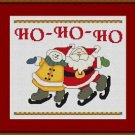 Cross-Stitch Embroidery Color Pattern with DMC thread codes - Ho-Ho-Ho Friends