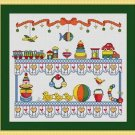 Cross-Stitch Embroidery Color Digital Pattern w. DMC codes - Baby Boy's Room