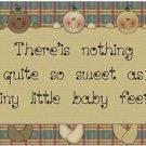 Beautiful Cute Decor Design Collectible Kitchen Fridge Magnet - Little Baby Feet