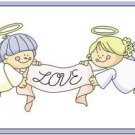 Beautiful Cute Decor Design Collectible Kitchen Fridge Magnet - Love Angels