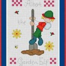 Cross-Stitch Embroidery Color Pattern with DMC codes - Albert the Garden Elf