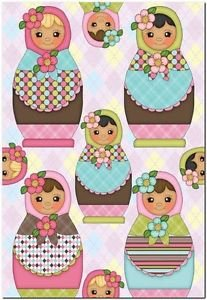 Beautiful Cute Decor Design Collectible Kitchen Fridge Magnet - Nesting Dolls