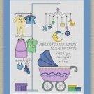 Cross-Stitch Embroidery Color Digital Pattern w. DMC codes - It's a Boy!