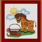 Cross-Stitch Embroidery Color Pattern with DMC codes - Life in the Farm #3