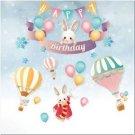 Beautiful Cute Decor Collectible Kitchen Fridge Magnet - Happy Birthday Bunnies