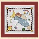 Cross-Stitch Embroidery Color Digital Pattern w. DMC codes -Patchwork Angel Boy