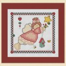 Cross-Stitch Embroidery Color Digital Pattern w. DMC codes -Patchwork Angel Girl