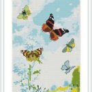 Cross-Stitch Embroidery Color Digital Pattern w. DMC codes - Butterfly Dance #4