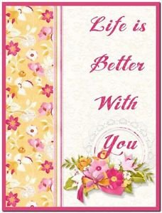 Beautiful Collectible Kitchen Fridge Refrigerator Magnet -Life's Better with You