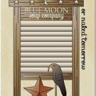 Primitive Country Folk Art Kitchen Refrigerator Magnet - Laundry Today Prim Crow