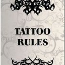 Beautiful Decor Design Collectible Kitchen Fridge Magnet - Tattoo Rules