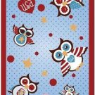 Beautiful Fun Decor Design Collectible Kitchen Fridge Magnet - Polka Dot US Owls
