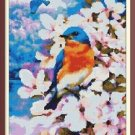 Cross-Stitch Embroidery Color Pattern with DMC codes -  Little Spring Birds