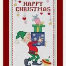 Cross-Stitch Embroidery Color Pattern with DMC thread codes - Happy Christmas #3