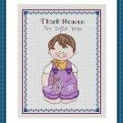 Cross-Stitch Embroidery Color Digital Pattern w. DMC codes - Thank Heaven #4