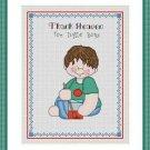 Cross-Stitch Embroidery Color Digital Pattern w. DMC codes - Thank Heaven #5