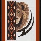 Cross-Stitch Embroidery Color Pattern with DMC codes - Native Lion