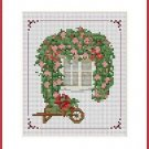 Cross-Stitch Embroidery Color Pattern with DMC codes- Flower Window