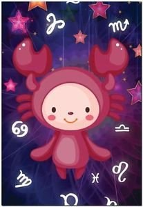 Cute Beautiful Astrology Zodiac Sign Decor Collectible Fridge Magnet - Cancer