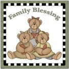 Beautiful Cute Decor Collectible Kitchen Fridge Magnet - Teddy Bear Family