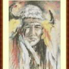 Cross-Stitch Embroidery Color Pattern w. DMC codes - Native Chief