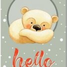 Beautiful Cute Decor Collectible Kitchen Fridge Magnet ~ Teddy Bear Welcome