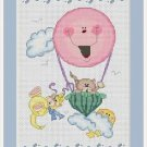 Cross-Stitch Embroidery Color Pattern with DMC thread codes - Cat Family Journey