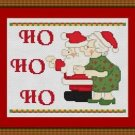Cross-Stitch Embroidery Color Pattern with DMC thread codes - Ho-Ho-Ho #2