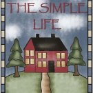 Primitive Country Folk Art Kitchen Refrigerator Magnet - The Simple Life #2