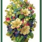 Beautiful Vintage Decor Collectible Kitchen Fridge Magnet - Garden Flowers #4
