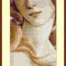 Cross-Stitch Embroidery Color Pattern with DMC codes -  Sandro Botticelli: Venus