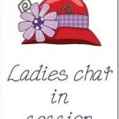 Primitive Country Folk Art Kitchen Refrigerator Magnet - Ladies Chat in Session
