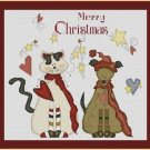Cross-Stitch Embroidery Color Pattern with DMC thread codes - Country Christmas