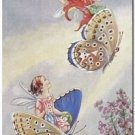 Beautiful Fun Decor Design Collectible Kitchen Fridge Magnet -Riding Butterflies