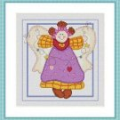 Cross-Stitch Embroidery Color Pattern with DMC codes - Cute Patchwork Angel #5