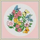 Cross-Stitch Embroidery Color Pattern with DMC codes - Butterfly Garden