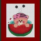 Cross-Stitch Embroidery Color Pattern DMC thread codes- Melon Teddy
