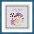 Cross-Stitch Embroidery Color Digital Pattern w. DMC codes - Thank Heaven #1