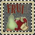Primitive Country Folk Art Kitchen Refrigerator Magnet - Fruit for Everyone