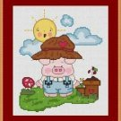 Cross-Stitch Embroidery Color Pattern with DMC codes - Life in the Farm