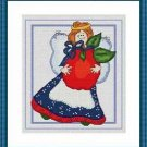 Cross-Stitch Embroidery Color Pattern with DMC codes - Cute Patchwork Angel #3
